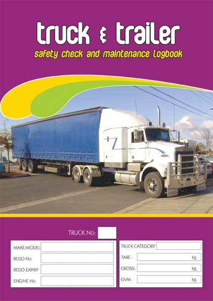 Truck Amp Trailer Safety And Maintenance Logbook