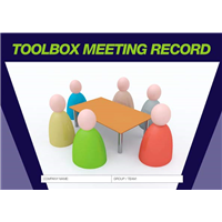 Toolbox Meeting Record Logbook