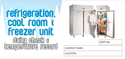 Refrigeration Cool Room & Freezer Unit Logbook