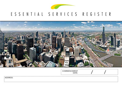 Essential Services Register Logbook
