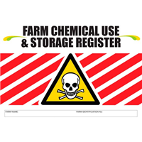 Farm Chemical Use & Storage Register Logbook