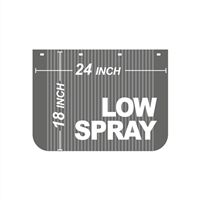 24 Inch x 18 Inch Low Spray