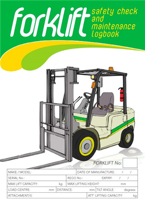 Forklift Single Shift Logbook