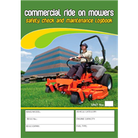 Comercial Ride On Mowers Safety Check & Maintenance Logbook