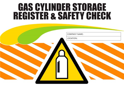 Gas Cylinder Storage Register & Safety Logbook
