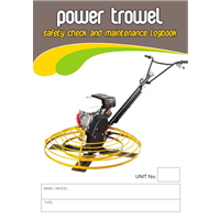 Power Trowel Safety Check & Maintenance Logbook