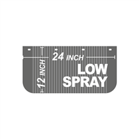 24 Inch x 12 Inch Low Spray