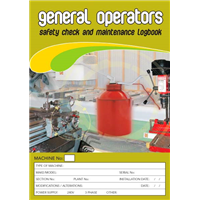 General Operators Safety & Maintenance Logbook