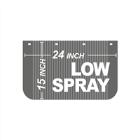 24 Inch x 15 Inch Low Spray
