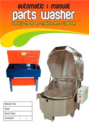 Auto & Manual Parts Washer Safety Check & Maintenance Logbook
