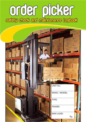 Order Picker Safety Check & Maintenance Logbook