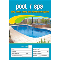 Pool & Spa Daily Check Testing & Maintenance Logbook
