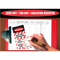 Lockout Tagout Isolation Register Logbook