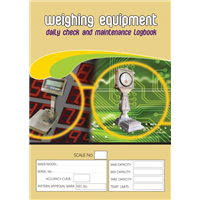 Weighing Equipment & Maintenance Logbook