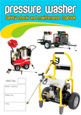 Pressure Washer Safety Check & Maintenance Logbook