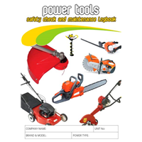 Power Tools Safety Check & Maintenance Logbook