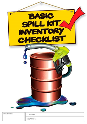 Basic Spill Kit Inventory Checklist Logbook
