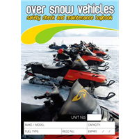 Over Snow Vehicles Safety Check & Maintenance Logbook