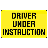 Rear Marker - Driver Under Instruction